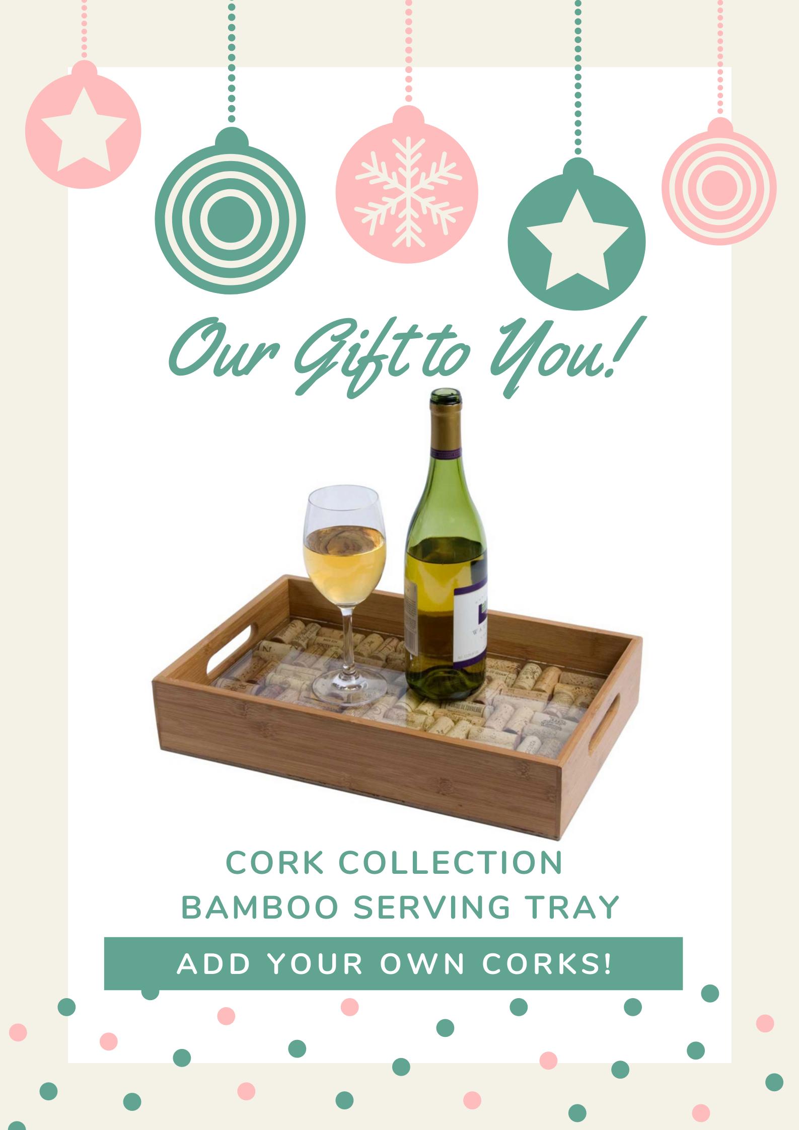 cork serving tray image