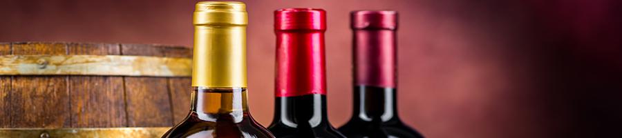 wine bottles and barrel