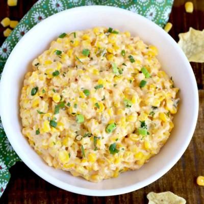 corn dip in bowl